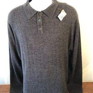 Dockers Men's Sweater Polo Long Sleeve Size L